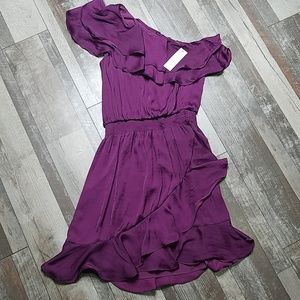 WHBM purple off the shoulder dress size 0P